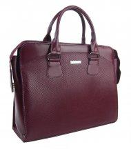 Dámská luxusní taška na notebook bordó hadí mat ST01 15.6