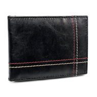 Kožená černá malá tenká peněženka pouze na karty RFID v krabičce ALWAYS WILD