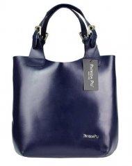 Modrá kožená dámská kabelka Patrizia Piu
