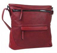 Červená crossbody dámská kabelka střední velikosti T5069