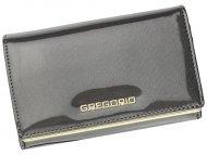 Gregorio šedá lakovaná dámská kožená peněženka v dárkové krabičce