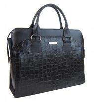 """Dámská luxusní černá matná taška na notebook kroko design ST01 15.6"""" GROSSO"""
