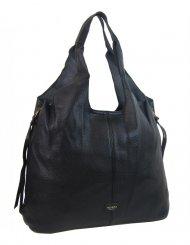 Moderní černá dámská kabelka přes rameno 5064-TS