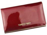 Gregorio červená lakovaná dámská kožená peněženka v dárkové krabičce