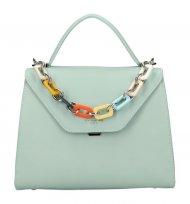 DAVID JONES Mentolově zelená elegantní dámská kabelka CM5791