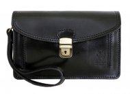 Černá kožená pánská dokladová taška / etue Vera Pelle