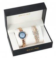 SKYLINE dámská dárková sada zlaté hodinky s náramkem 2950-16