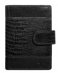 Kožená pánská peněženka černá RFID v krabičce WILD