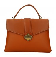 DAVID JONES Elegantní hnědá dámská kabelka do ruky CM5617