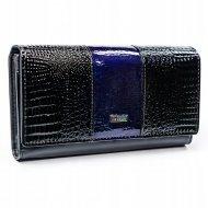 Cavaldi černo-modrá dámská kroko peněženka kůže/PU v dárkové krabičce