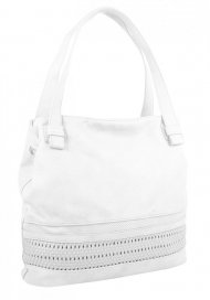 Bílá praktická dámská kabelka přes rameno 5407-BB