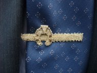 Kravatová spona podkova (zlatá)