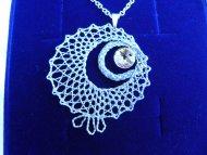 Náhrdelník Swarovski kolečko stříbrné (krystal žlutý)