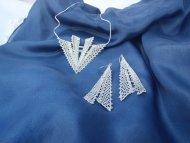 Set Aquamarin šipka stříbrná - náhrdelník + náušnice