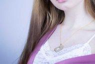 Valentýna SWAROVSKI (náhrdelník zlatý, krystal čiřý)