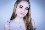 Valentina SWAROVSKI  (náhrdelník stříbrný, krystal modrý)