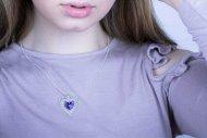 Valentina SWAROVSKI  (náhrdelník stříbrný, krystal fialový)