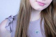 Valentina SWAROVSKI  (náhrdelník stříbrný, krystal modrofialový)