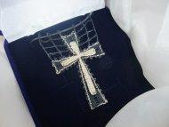 Náhrdelník křížek černo-zlatý