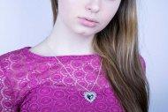Valentina SWAROVSKI  (náhrdelník stříbrný, krystal tyrkys)