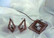Set kosočtverec bronzový - náhrdelník + náušnice