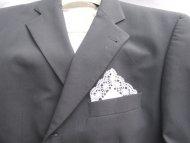 Kapesníček zdobený krajkou bílý se stříbrným (bavlna)