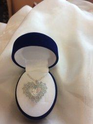 Náhrdelník Swarovski srdce stříbrné (krystal čirý)
