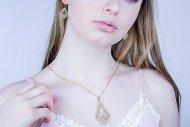 Sylvie (set zlatý), náhrdelník + náušnice
