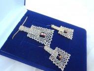 Set lichoběžník zlatý - náhrdelník + náušnice