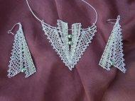 Set šipka stříbrná  - náhrdelník + náušnice