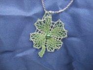 Náhrdelník čtyřlístek zelený