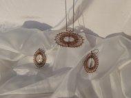 Set ovál bronzový - náhrdelník + náušnice