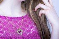 Valentina SWAROVSKI (náhrdelník zlatý, krystal růžový)