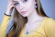 Valentýna SWAROVSKI(set stříbrný, krystal modrofialový)