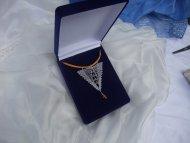 Náhrdelník trojúhelník stříbrný