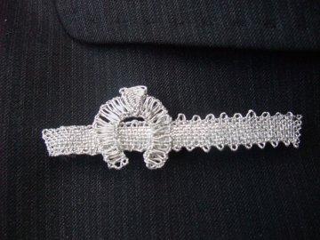 Kravatová spona podkova (stříbrná)