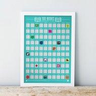 Stírací plakát 100 nejlepších knih - Bucket list