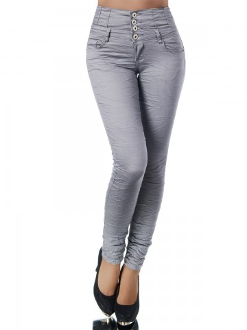 Pantaloni damă 9408 - GREY - M