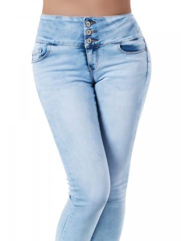 Pantaloni damă 9467 - BLUE - XS