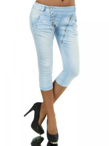Pantaloni damă 8482 - light blue - S