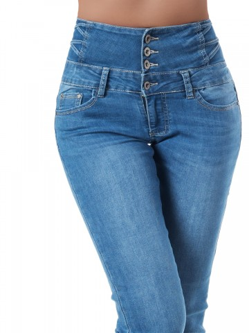 Pantaloni damă 9324 - BLUE - S