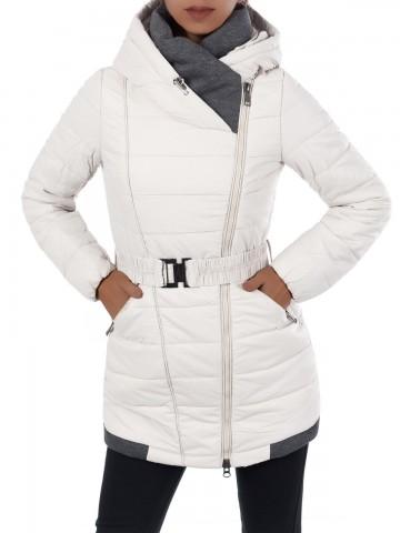 Dámská zimní bunda - 7879 - béžová - XXL