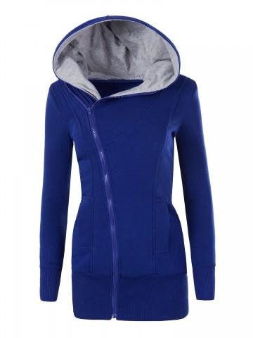 Mikina s kapucí 8364 - tmavě modrá - S