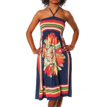 Letní šaty - F27 tmavě modrá - XS/L