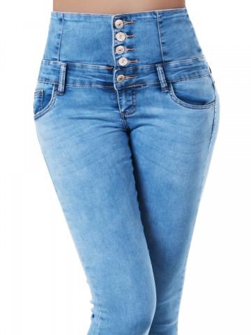 Pantaloni damă 9433 - BLUE - XS