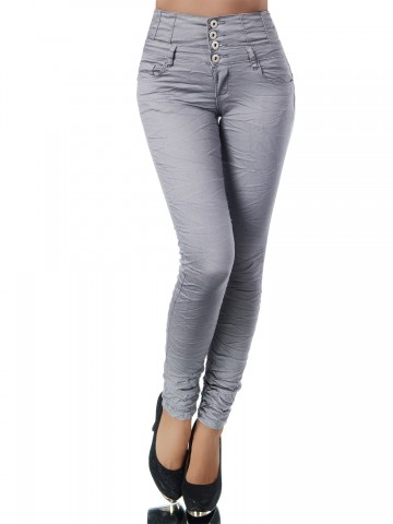 Pantaloni damă 9408 - GREY - XS