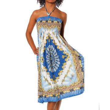 Letní šaty F-028 - modrá XS/L