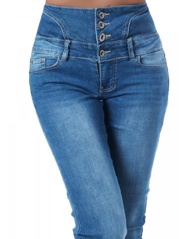 Pantaloni damă - 9323 - BLUE - S