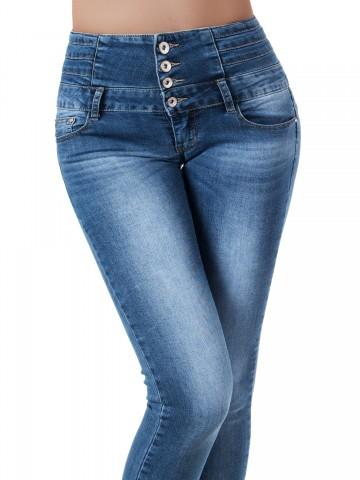 Pantaloni damă 9459 - BLUE - S