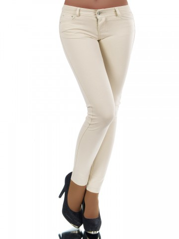 Pantaloni damă 8595 - BEIGE - S